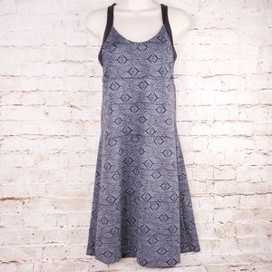 Patagonia Morning Glory Dress Black Gray Sz M